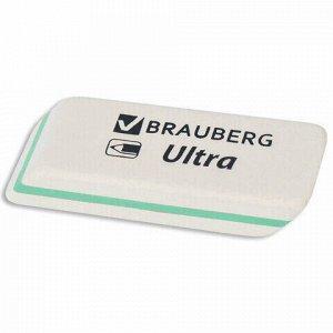 """Ластик BRAUBERG """"Ultra"""", 50х14х8 мм, белый, детали ассорти, натуральный каучук, 228704"""