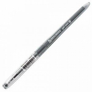 Ручка гелевая BRAUBERG DIAMOND, ЧЕРНАЯ, игольчатый узел 0,5 мм, линия письма 0,25 мм, 143379