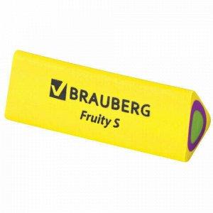 "Ластик BRAUBERG ""Fruity S"", 44х15х15 мм, цвет ассорти, треугольный, 228713"