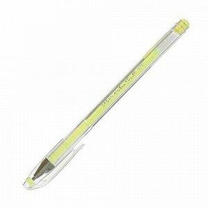 "Ручка гелевая CROWN ""Hi-Jell Pastel"", ЖЕЛТАЯ ПАСТЕЛЬ, узел 0,8 мм, линия письма 0,5 мм, HJR-500P"
