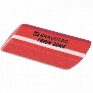 "Ластик большой BRAUBERG ""Fresh Zone"", 60х18х12 мм, цвет ассорти, прямоугольный, скошенный, 228717"