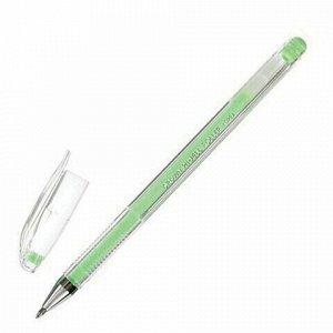 "Ручка гелевая CROWN ""Hi-Jell Pastel"", ЗЕЛЕНАЯ ПАСТЕЛЬ, узел 0,8 мм, линия письма 0,5 мм, HJR-500P"
