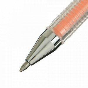 """Ручка гелевая CROWN """"Hi-Jell Pastel"""", ОРАНЖЕВАЯ ПАСТЕЛЬ, узел 0,8 мм, линия письма 0,5 мм, HJR-500P"""