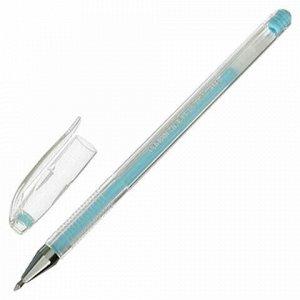 """Ручка гелевая CROWN """"Hi-Jell Pastel"""", ГОЛУБАЯ ПАСТЕЛЬ, узел 0,8 мм, линия письма 0,5 мм, HJR-500P"""