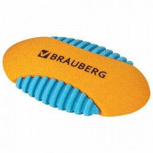 "Ластик BRAUBERG ""Mix S"", 58х33х13 мм, цвет ассорти, 228724"