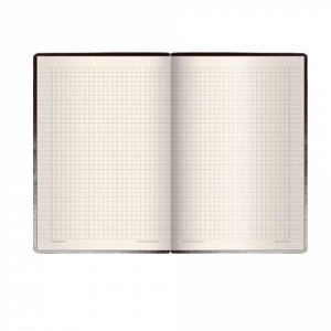 "Блокнот МАЛЫЙ ФОРМАТ (100х150 мм) А6, BRAUBERG ""Western"", 128 л., гладкий кожзам, резинка, клетка, коричневый, 125241"