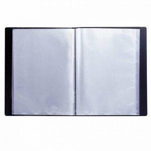 Папка 60 вкладышей BRAUBERG стандарт, черная, 0,8 мм, 221606