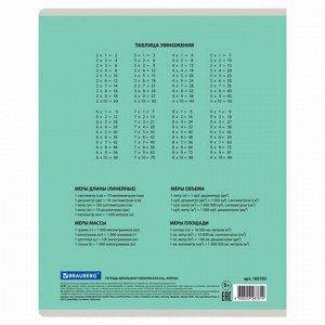 Тетрадь 24 л. BRAUBERG КЛАССИКА NEW клетка, обложка картон, ЗЕЛЕНАЯ, 105703