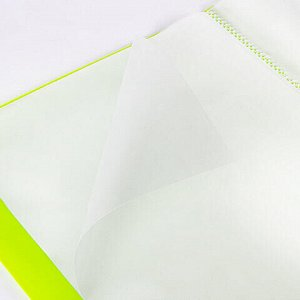 """Папка 40 вкладышей BRAUBERG """"Neon"""", 25 мм, неоновая, зеленая, 700 мкм, 227452"""