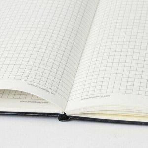 """Блокнот в клетку с резинкой А5 (148x218 мм), 80 л., под кожу черный BRAUBERG """"Metropolis Special"""", 111577"""