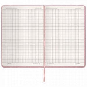 """Блокнот в клетку с резинкой А5 (148x218 мм), 80 л., под кожу розовый BRAUBERG """"Metropolis Special"""", 111579"""