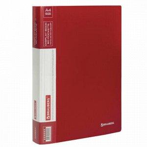 Папка 60 вкладышей BRAUBERG стандарт, красная, 0,8 мм, 228683