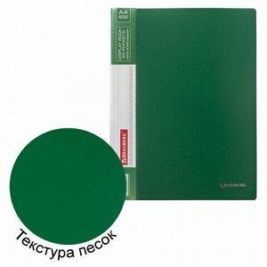 Папка 60 вкладышей BRAUBERG стандарт, зеленая, 0,8 мм, 228684
