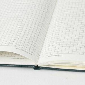 """Блокнот в клетку с резинкой А5 (148x218 мм), 80 л., балакрон зеленый BRAUBERG """"Metropolis"""", 111583"""