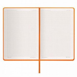 """Блокнот в клетку с резинкой А5 (148x218 мм), 80 л., балакрон оранжевый BRAUBERG """"Metropolis"""", 111584"""