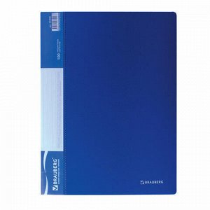Папка 100 вкладышей BRAUBERG стандарт, синяя, 0,9 мм, 221609