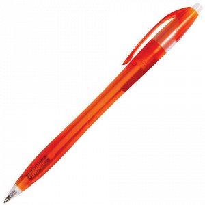 """Ручка шариковая автоматическая BRAUBERG """"Chance"""", СИНЯЯ, корпус тонированный ассорти, узел 0,7 мм, линия письма 0,35 мм, 141160"""