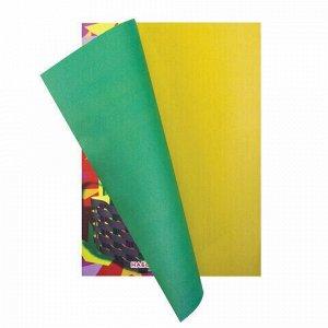 """Цветная бумага А4 газетная, 16 листов 8 цветов, на скобе, ПИФАГОР, 200х283 мм, """"Гномик-грибник"""", 121006"""