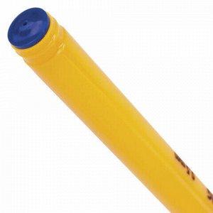"""Ручка шариковая масляная BRAUBERG """"Oil Sharp"""", СИНЯЯ, корпус оранжевый, узел 0,7 мм, линия письма 0,5 мм, 141532"""
