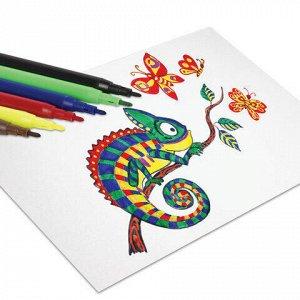 Фломастеры ПИФАГОР, 6 цветов, вентилируемый колпачок, 151089