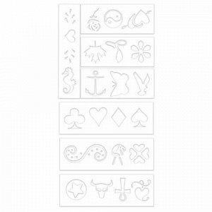 """Фломастеры для кожи 4 ЦВЕТА CENTROPEN """"Tattoo"""", + 16 трафаретов, смываемые, 2880/4BL, 6 2880 0405"""