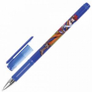 """Ручка шариковая BRAUBERG """"Корсары"""", СИНЯЯ, корпус с печатью, узел 0,7 мм, линия письма 0,35 мм, 141538"""