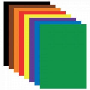 """Цветная бумага А4 мелованная (глянцевая), 8 листов 8 цветов, на скобе, BRAUBERG, 200х280 мм, """"Бабочки"""", 129547"""