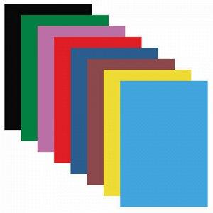 """Цветная бумага А4 мелованная (глянцевая), 16 листов 8 цветов, на скобе, BRAUBERG, 200х280 мм, """"Утята"""", 129927"""