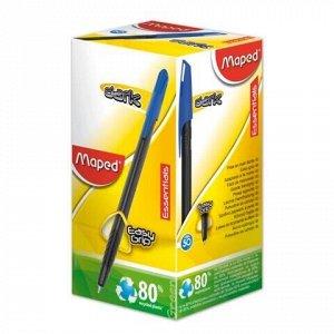 "Ручка шариковая масляная MAPED (Франция) ""Green Dark"", СИНЯЯ, трехгранная, узел 1 мм, линия письма 0,6 мм, 225430"