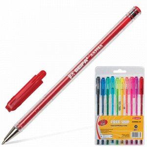 Ручки шариковые BEIFA (Бэйфа) НАБОР 10 шт., АССОРТИ, корпус с блестками, узел 1,2 мм, линия письма 1 мм, AA998A-10