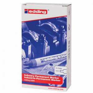 Маркер для промышленной маркировки EDDING 8300, ЧЕРНЫЙ, 1,5-3 мм, круглый наконечник, E-8300/1