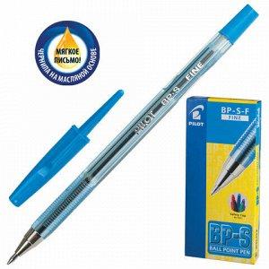 """Ручка шариковая масляная PILOT """"BP-S"""", СИНЯЯ, корпус тонированный синий, узел 0,7 мм, линия письма 0,32 мм, BP-S-F"""