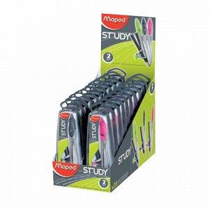 """Циркуль MAPED (Франция) """"Study"""", 120 мм, металлический, карандаш в комплекте, ассорти, пенал, 119410"""