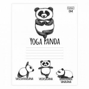 """Тетрадь 24 л., HATBER, клетка, обложка картон, """"Animals Yoga"""" (5 видов), 24Т5В1"""