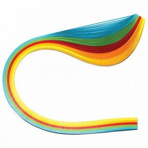 """Бумага для квиллинга """"Яркие цвета"""", 5 цветов, 100 полос, 5 мм х 300 мм, 80 г/м2, ОСТРОВ СОКРОВИЩ, 128753"""