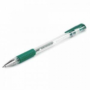 """Ручка гелевая с грипом STAFF """"EVERYDAY"""", ЗЕЛЕНАЯ, корпус прозрачный, узел 0,5 мм, линия письма 0,35 мм, 141825"""