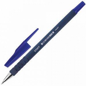 """Ручка шариковая STAFF """"EVERYDAY"""", СИНЯЯ, корпус прорезиненный синий, узел 0,7 мм, линия письма 0,35 мм, 142397"""