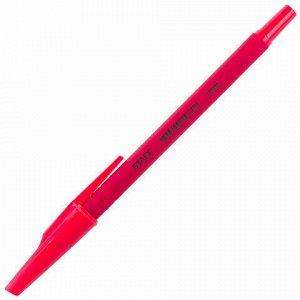 """Ручка шариковая STAFF """"EVERYDAY"""", КРАСНАЯ, корпус прорезиненный красный, узел 0,7 мм, линия письма 0,35 мм, 142399"""