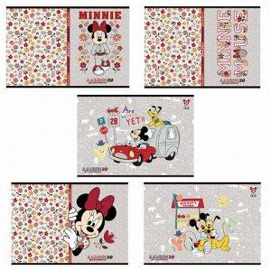 """Альбом для рисования, А4, 20 листов, скоба, обложка картон, HATBER, 205х290 мм, """"Микки Маус-DISNEY"""" (5 видов), 20А4В"""