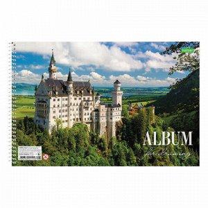 """Альбом для рисования, А4, 24 листа, спираль, обложка картон, HATBER """"ECO"""", 205х300 мм, Ассорти (5 видов), 24А4Cсп"""