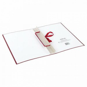 Папка-обложка для дипломного проекта STAFF, А4, 215х305 мм, фольга, 3 отверстия под дырокол, шнур, бордовая, 127209
