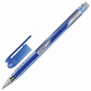 """Ручка стираемая гелевая STAFF """"College EGP-102"""", СИНЯЯ, корпус синий, хромированные детали, узел 0,5 мм, линия письма 0,38 мм, 142499"""