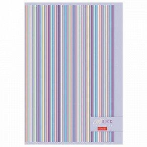 """Тетрадь А4, 96 л., HATBER, скоба, клетка, обложка картон, """"Gentle design"""" (3 вида), 96Т4В3"""