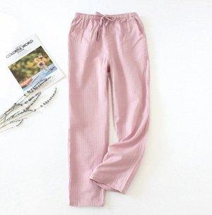 Женские штаны, розовые, однотонные