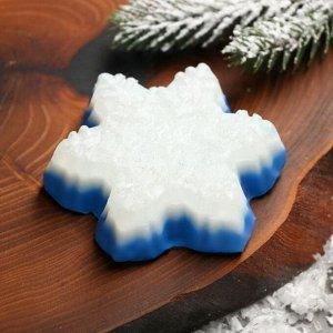 Мыло в форме снежинки «С Рождеством Христовым!»