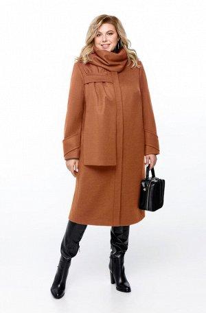 Пальто Пальто Pretty 1162 бежевый  Состав ткани: ПЭ-40%; Шерсть-60%;  Рост: 164 см.  Пальто женское на подкладке прямого силуэта, выполненное из добротной пальтовой ткани. Пальто имеет смещенные рель