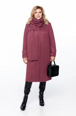 Пальто Пальто Pretty 1162 розовый  Состав ткани: ПЭ-40%; Шерсть-60%;  Рост: 164 см.  Пальто женское на подкладке прямого силуэта, выполненное из добротной пальтовой ткани. Пальто имеет смещенные рель