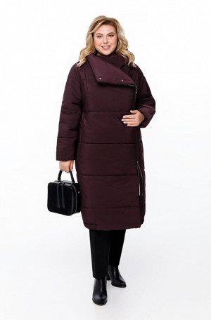 Пальто Пальто Pretty 1173 баклажан  Состав ткани: ПЭ-100%;  Рост: 164 см.  Женское дутое пальто на синтепоне, предназначенное для эксплуатации в осенне-зимний период с температурой воздуха до -15 гра