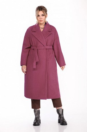 Пальто Пальто Pretty 1310 розовый  Состав: ПЭ-40%; Шерсть-60%; Сезон: Осень-Зима Рост: 164  Женское пальто прямого силуэта. Выполненное из пальтовой ткани. Застежка центральная двубортная на потайные