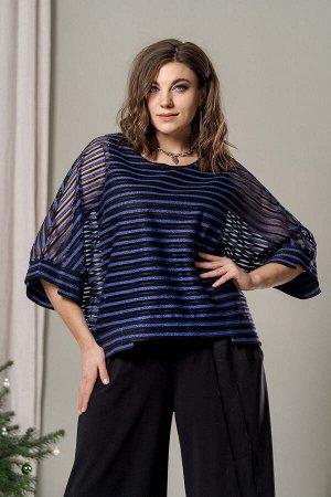 Блуза Блуза GRATTO 4020 №2  Состав: Блуза: ПЭ-100%; Блуза: Вискоза-100%; Сезон: Осень-Зима Рост: 170  Блуза женская, нарядная свободного силуэта из комбинированного полотна. Вырез горловины глубокий,